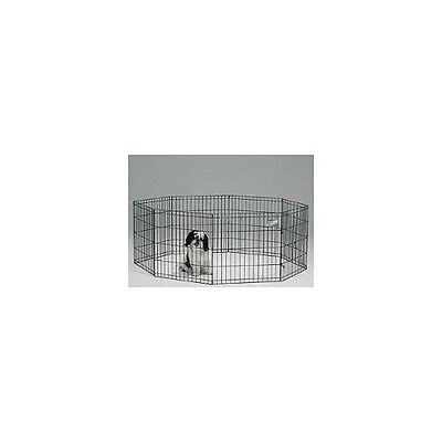 Midwest Exercise Pen 24 X 30-Inch, Black Dog Pet Kennel Puppy Play Cage Playpen