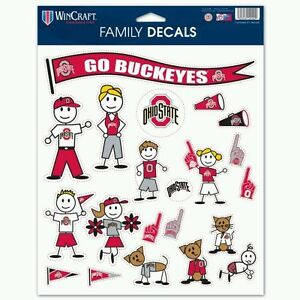 OHIO STATE BUCKEYES FAMILY DECALS 21 PER SHEET Just LIKE a Fathead