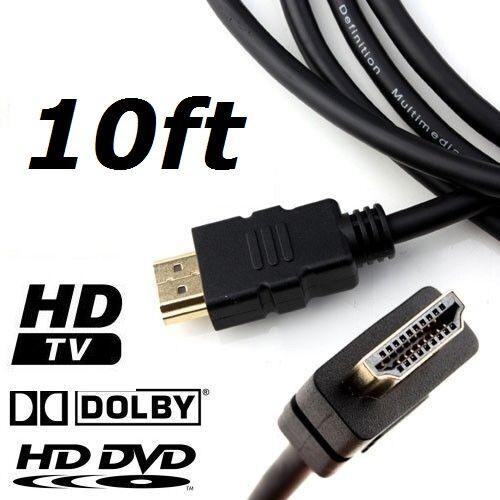 New 10 FT High Speed HDMI M/M 3D Cable 1080p HDTV for PS3 Xbox One DVD 10FT PS4 Consumer Electronics