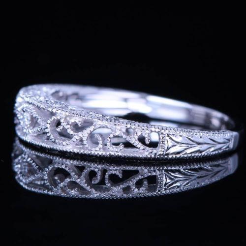Filigree Ring Bands: Filigree Wedding Band