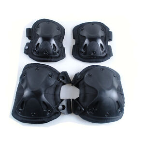 black tactical sport outdoor military knee & elbow Protection pads support set