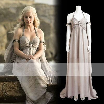 Game Of Thrones Daenerys Targaryen Cosplay Women Fancy Dress  Costume