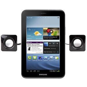 Small Black Portable USB Tablet Speakers For Samsung Galaxy Tab 2 7.0 & 10.1