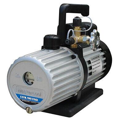 Mastercool 90066-2v-110-b 6 Cfm 2 Stage Vacuum Pump 12 Hp 110v