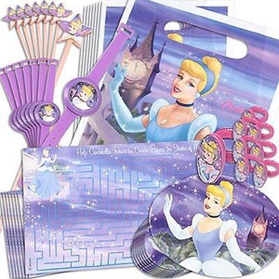 DISNEY'S PRINCESS CINDERELLA BIRTHDAY PARTY SUPPLIES FAVOR PACK 48 PC FREE - Cinderella Birthday Supplies