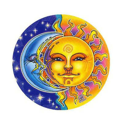 Mandala Arts Sun & Moon Night & Day 2 Side Quality Circle Hippy Window Sticker