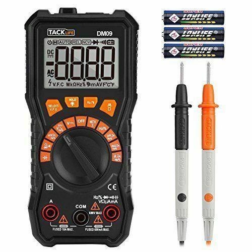 Tacklife Multimeter Digital dm09 6000 Counts Multi Tester Meter