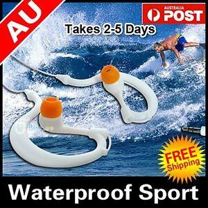 AU Waterproof Earphones Headphones Watersports Underwater For MP3 MP4 player