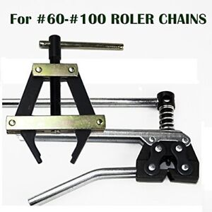 Roller Chain Tools Kit  60 80 100 And More, Chain Holder/Puller + Breaker/Cutter