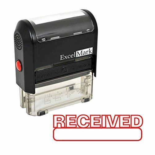 ExcelMark RECEIVED Self Inking Rubber Stamp A1539 | Red Ink