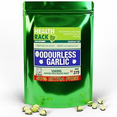 Garlic Capsules Odourless 375 Capsules 1000mg   Healthy Heart & Immune System