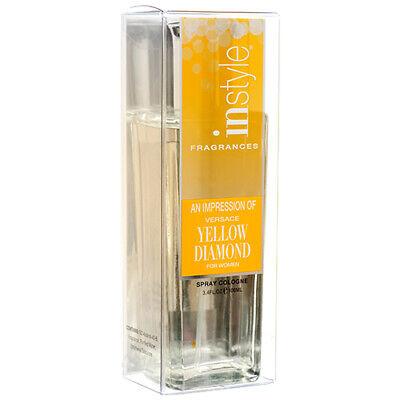 2 Pcs In Style Fragrance Spray Cologne Yellow Diamond Women's Perfume 3.4 oz