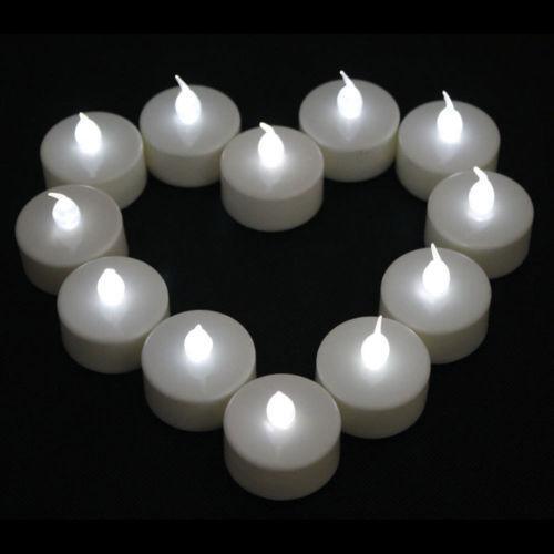 Flameless Tea Lights White Ebay