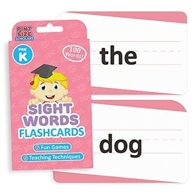 Pint-Size Scholars Sight Words Flashcards for Reading Readiness, 100 Pre-K Words