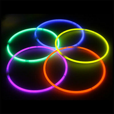 """100 barrel 22"""" Glow Stick Necklaces Neon Colors Party Favors - Relaxed SHIPPING!!!"""