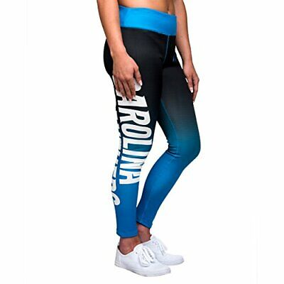 Forever Collectibles NFL Women's Carolina Panthers Gradient 2.0 Wordmark Legging ()