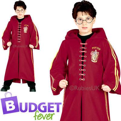 Deluxe Harry Potter Quidditch Robe Kids Fancy Dress Book Week Boys Girls Costume
