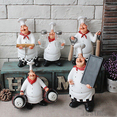 Restaurant Decor - Collectible Chef Figurines Statue Home Kitchen Restaurant Decor Welcome Sign