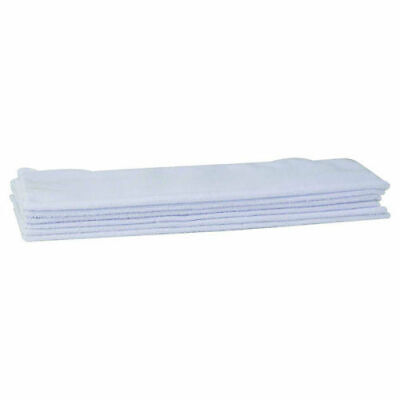 New In Package Winco Btm-16w 16x16 Inch White Microfiber Bar Towel 6 Piece Pack