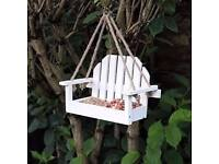 White Bench Shaped Hanging Garden Bird Feeder Delivery Available £10