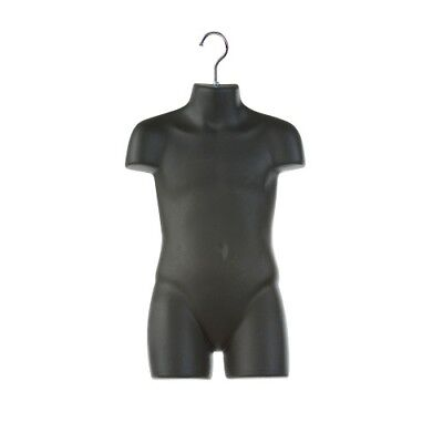 Only Hangers Child Plastic Mannequin Torso Body Form- Black