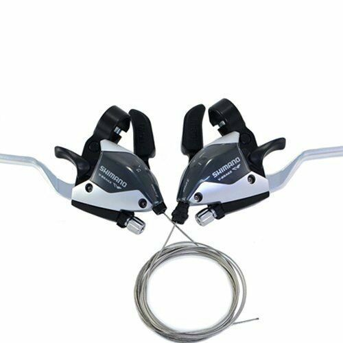 NEW Shimano EF65-2A 3x8-Speed Brake//Shift Lever Set Silver