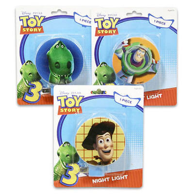 Night Light Plug-in Rotary Shade Toy Story 3 Woody Buzz Rex Girl Boy (Woodies Light Shades)