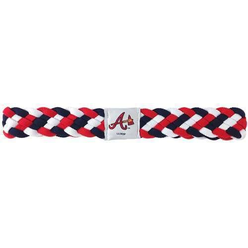 4c6dab0d2 Atlanta Braves MLB Braided Style Elastic Headband Hairband - NEW   eBay