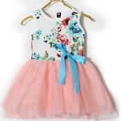 Girls Pink Dress 3-4 Years