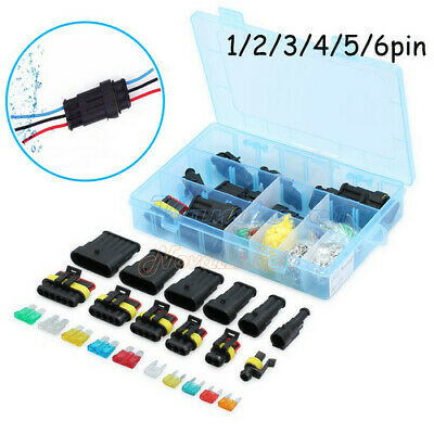 New 1 2 3 4 5 6 Pin Way Car Auto Blade Fuses Electrical Wire Connector Plug Kit