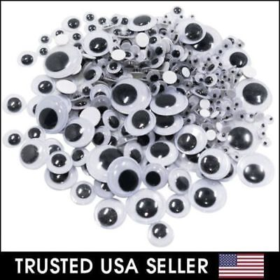 182 Pcs Assorted Sizes Wiggly Googly Eyes 7 Sizes for DIY Scrapbooking Craft Art (Craft Eyes)