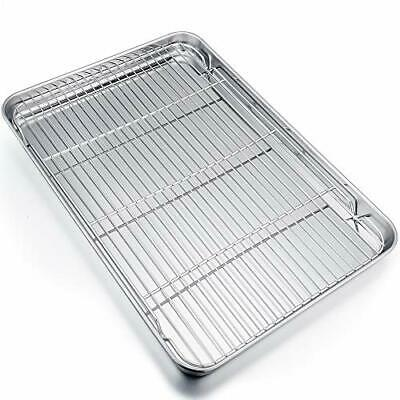 P&P CHEF Extra Large Baking Sheet and Rack Set, Stainless Steel 19.6 inch