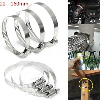 Stainless Steel Fuel Hose Clips Pipe Clamps Fastening Multi Size Jubilee Type