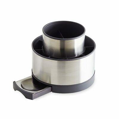 PAMPERED CHEF Stainless steel rotating utensil holder