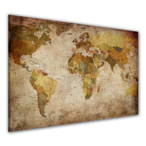 Bild weltkarte ebay for Weltkarte leinwand ikea
