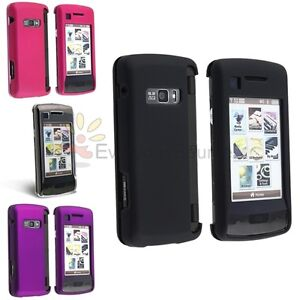 4 x NEW Hard Rubber Coated Skin Case Cover For LG Verizon enV Touch VX11000