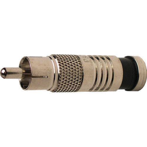 Platinum Tools 18051 RCA RG6 Compression Connector, Nickel Plate Pkg 25pc/Bag