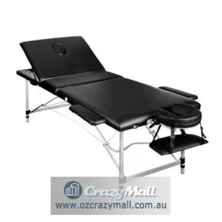 Mobile Aluminium Foldable Massage Table 60cm Wide Black/White