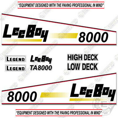 Leeboy 8000 Decal Kit Asphalt Paver Equipment Decals