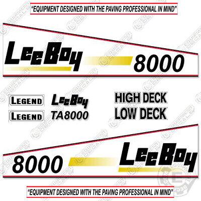 Leeboy 8000 Decal Kit Asphalt Paver Equipment Decals