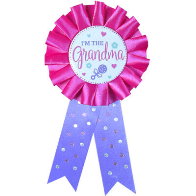 BABY SHOWER I'm the Grandma GUEST OF HONOR RIBBON ~ Party Supplies Favors Award ()