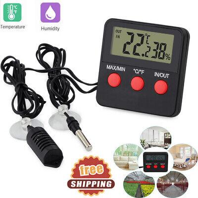 Digital Thermometer Hygrometer Inoutdoor Temperature Humidity Probe Tester New