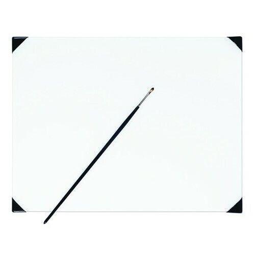 NEW WAVE 00242  POSH WHITE GLASS TABLE TOP PALETTE 12X16