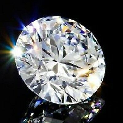 Round 6 mm 1.3 ct VVS G White Brilliant Cut Lab Diamond Solitaire Flawless Stone