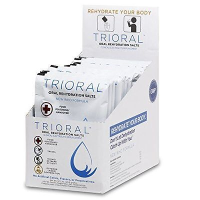 TRIORAL - Oral Rehydration Salts ORS (15, One Liter Packets) *No Box*