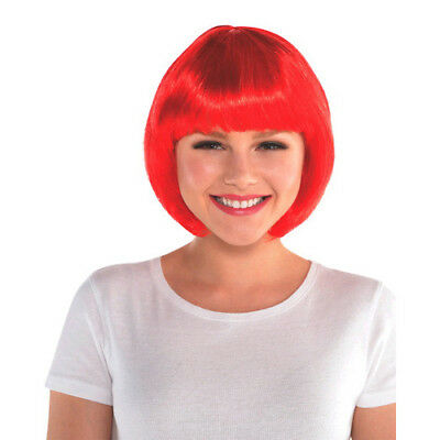 Birthday Costumes For Adults (RED BOB WIG for ADULTS or KIDS ~ Birthday Halloween Party Supplies Costume)