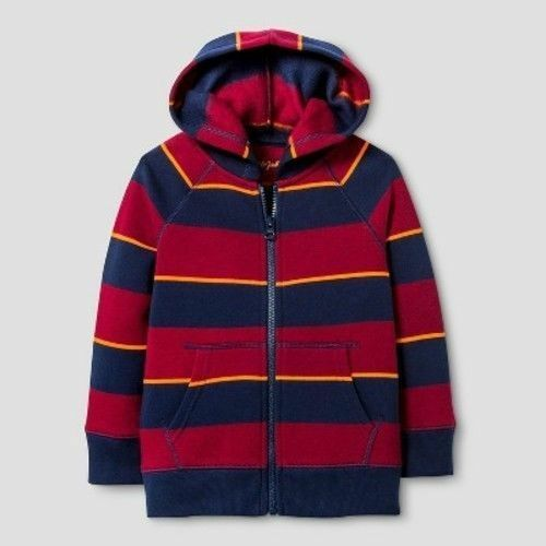 Cat & Jack Boys Red Blue Striped Warm Cozy Size 4T Toddler Sweater NWT Baby