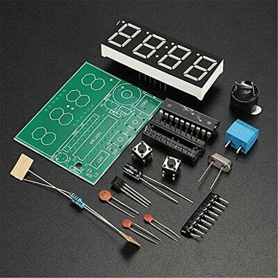 4 Bits Organizer Digital Led Electronic Clock Diy Kits Pcb Solder Practice Board