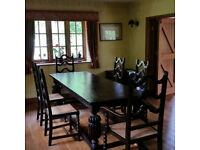 *Bargain* HUGE 8'3 Antique Refectory Oak Dining TABLE - Seat 10+ - Jacobean style *Can Del*