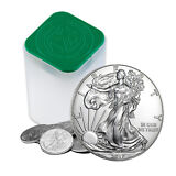 2017 1 oz Silver American Eagle Coins BU (Lot, Roll, Tube of 20)